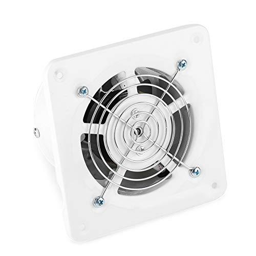 Abluftventilator - 25w 220v an der Wand befestigter Abluftventilator, geräuscharm Home Badezimmer Küche Garage Lüftungsschlitze Belüftung, 4in Abluftventilator - Wand Lüftungsschlitze