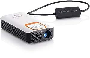 """Philips PicoPix PPX2340/F7 Vidéoprojecteur portable 40ANSI lumens DLP nHD (640x360) Noir, Argent vidéo-projecteur - vidéo-projecteurs (40 ANSI lumens, DLP, nHD (640x360), 1500:1, 16:9, 254 - 1524 mm (10 - 60""""))"""