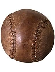 Pelota de sófbol de marrón envejecido Vintage de piel con sonido bolsa de protección en lienzo