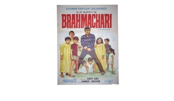 Brahmachari :1968 Original vintage Bollywood movie poster