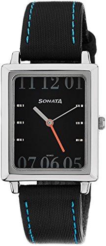 41GpqxJcUrL - Sonata NF7078SL02 Classic Mens watch