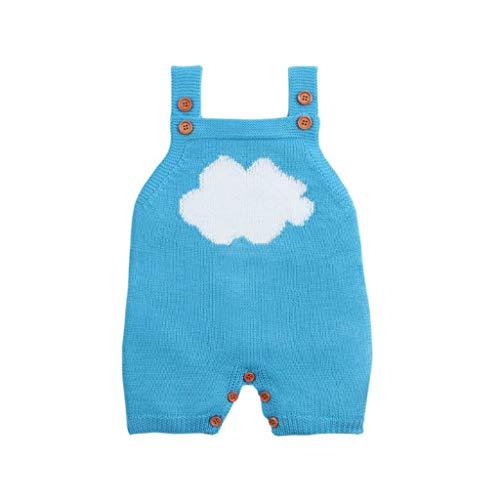 TuHao88 Baby Gestrickte Strampler Baby Kleidung Schlaf Strampler Neugeborenes Baby Mädchen Junge Spielanzug Cloud Sling Harness Button Weste -