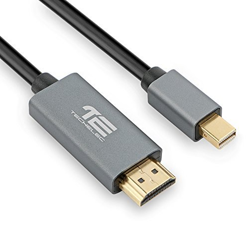 TechElec Gold Plated Mini DisplayPort to HDMI HDTV Thunderbolt Compatible Cable, 6 Feet, Black