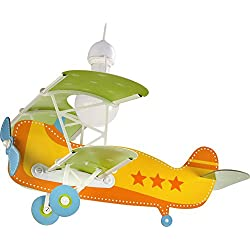 Dalber Baby Plane - Lámpara colgante Avión, color naranja, E27