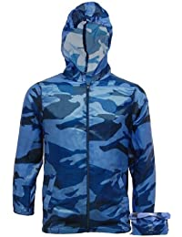 Boys Lightweight Camo Rain Jacket Kagool | Kids Cagoule - Cag in a Bag - Camouflage