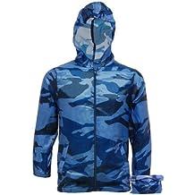 Boys Lightweight Camo Rain Jacket Kagool | Kids Cagoule - Cag in a Bag - Camouflage