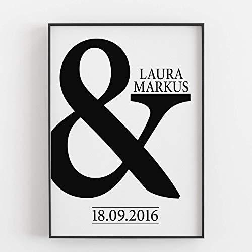 Gastgeschenk Hochzeit für Brautpaar Hochzeitsgeschenk Und Zeichen Kunstdruck personalisiert...