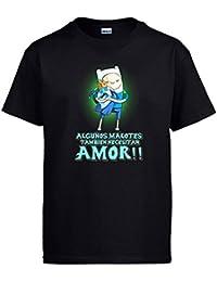 Amazon hora de aventuras ropa diver camisetas camiseta hora de aventuras finn algunos malotes tambin necesitan amor san valentn thecheapjerseys Images