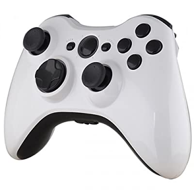 Official Xbox 360 Wireless Controller - Piano White with Black Buttons