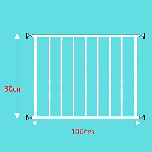 fenstergelaender Punch-free Tür Für Kinder Fenstergitter Bodentiefe Fensterschutzfenster Hochhausschutznetz Balkon Fenstergeländer (größe : 80cm)