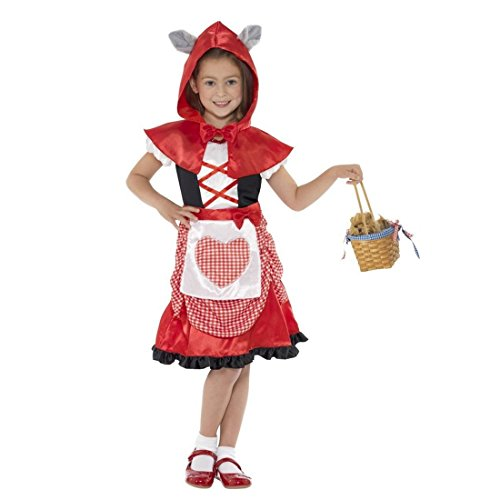 NET TOYS Rotkäppchen Kostüm Kinder Märchen Verkleidung S - 115-128 cm 4-6 Jahre Rotkäppchenkostüm Märchenkostüm Kinderkostüm Mädchen Red Riding Hood Faschingskostüm (Hood Kostüm Riding Kinder S Red)