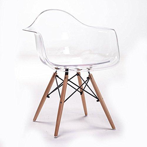 Bar stoolsqx iaizi sedia da pranzo con braccioli trasparente sedia eames sedia da scrivania in plastica con schienale regolabile in plastica dal design creativo (colore : trasparente)