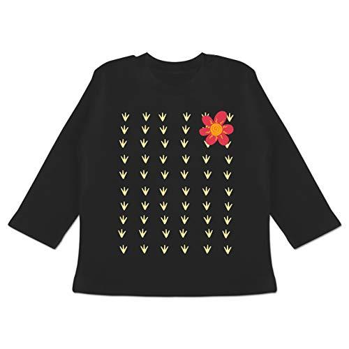 Karneval und Fasching Baby - Kaktus Karneval Kostüm - 3-6 Monate - Schwarz - BZ11 - Baby T-Shirt - Baby Kaktus Kostüm