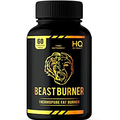 Fat Burner+ Thermogenic   Fast Effective Fat Burner   Appetite Suppressant Pills for Natural Weight Loss   Active Ingredients   Food Supplement - 60 Capsules - by Beast and Bulk Nutrition. from Private label nutrition