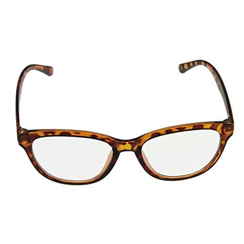 Nerd Brille Frames (BXT Unisex Trendige Nerdbrille Sonnenbrille Lesebrille Wayfarer Brille Klare Linse 100% UV Schutz Strahlenschutz Ohne Stärke Full Frame Saison Fashionaccessoire für Damen und Herren in Ver.)