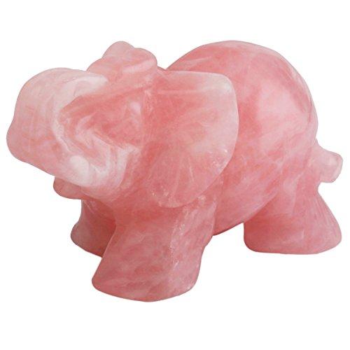 Shanxing Natural tallada Animal Elefante Cristal Piedra Curación Reiki Energía Figura decorativa...