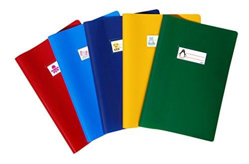 Favorit 400113432 copri quaderni a4 laccati con etichetta, conf. da 10 pezzi, colori assortiti