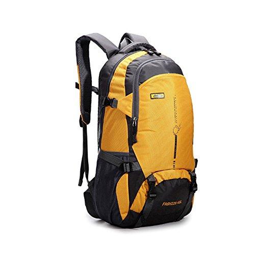 FHGJ Wasserdichter Nylon Rucksack Herrenreise Rucksack Multifunktionstasche Herren Laptop Rucksack Trave Outdoor Tasche,Yellow (Burton-schaum)
