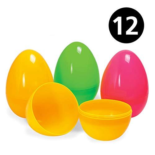Tk gruppe timo klingler - 12 uova di plastica colorate, uova di pasqua vuote da riempire e aprire, decorazione pasquale