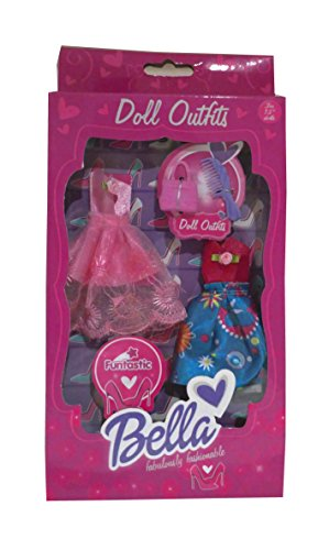 bella-funtastic-doll-outfits-set-fits-75-inch-doll-outfits-set-includes-2-dresses-handbag-and-hair-b