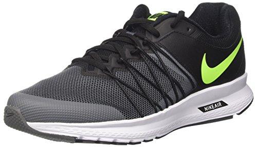 Nike Herren Air Relentless 6 Laufschuhe Schwarz (Black/volt-dk Grey White)