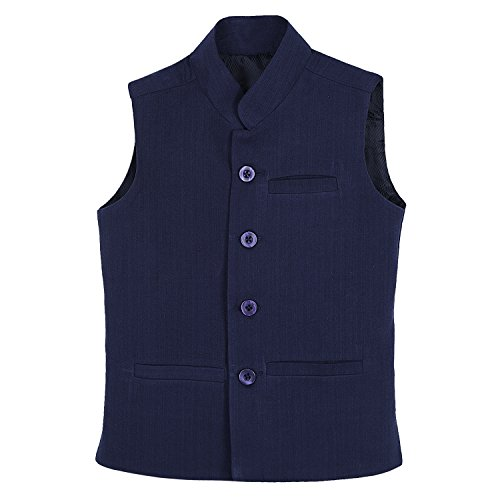 Dhrohar-Khadi-Cotton-Navy-Blue-Modi-Jacket-for-Boys-2-Years-6-Years