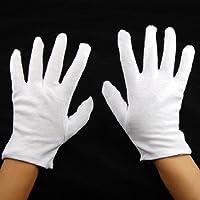 dasuke 12?Pares 100% algodón blanco Hidratante funda Guante Salud Música Lienzo Trabajo