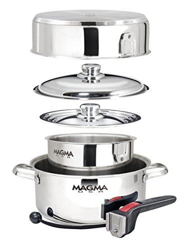 Magma 7-Piece Professional Series 18-10 Stainless Steel Gourmet Nesting Cookware Set