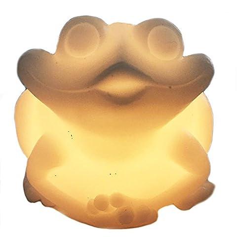 LED Elektronische Rauchfreie Kerzen Weihnachten Festival Frosch Creative Light Haushalt verziert ist gelb Einzelleuchte blinkende