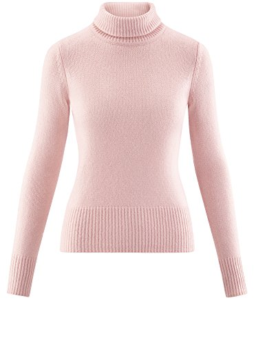 oodji Ultra Damen Kurzer Pullover aus Weichem Garn Rosa (4000N)
