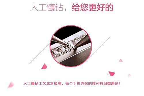 Vandot iPhone 7 Plus Strass Diamant Case iPhone 7 Plus Transparent TPU Silicone Coque pour iPhone 7 Plus 5.5 Pouces Souple Coque+ Support de téléphone portable-Papillon Fille Papillon Girl