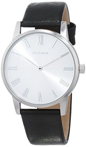 Pilgrim Damen Analog Quarz Uhr mit Leder Armband 701746120