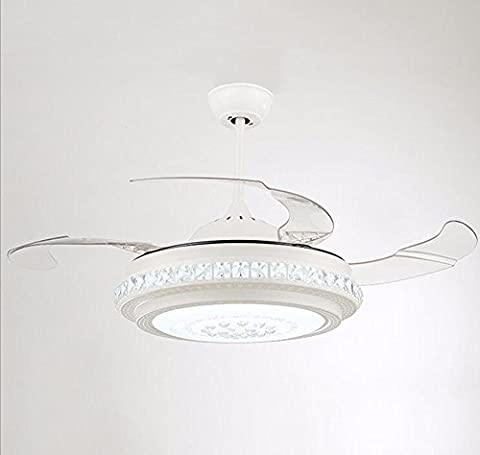 LighSCH Schlafzimmer Stealth Deckenventilatoren mit Beleuchtung das Restaurant Crystal Fan Light Dekor Wand Steuerung Durchmesser (Fan-wand Steuerung)
