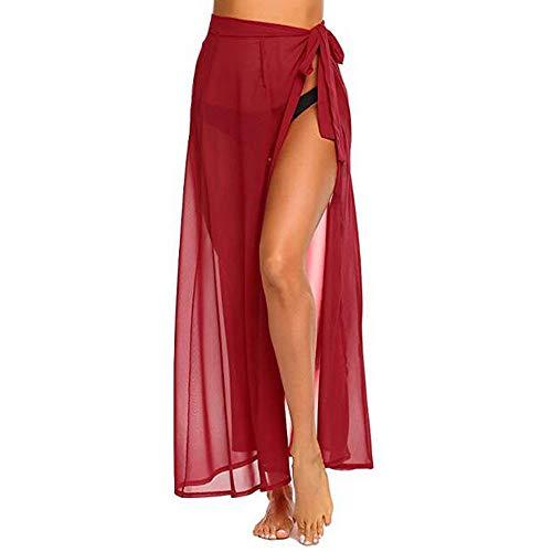 Bfmyxgs Sexy Bademode für Frauen Lady Strand Multifunktions solide vertuschen Sarong Badeanzug Vertuschung Kittel Kleid Bodys Beachwear Bademode Monokini Bikini Tankini Sets Bade Badeanzug -