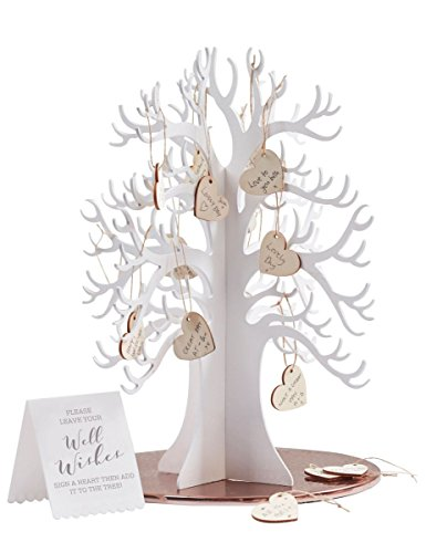 Ginger ray wooden wishing tree & hearts alternative wedding guest book - beautiful botanics