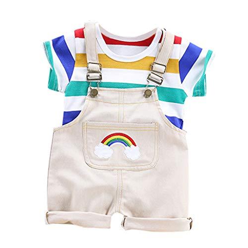 oo Kleinkind Kinder Baby MäDchen Jungen Outfits Kleidung Kariertes Kapuzen T-Shirt Oberteile Hosen Karierte NäHte Kapuze KurzäRmelige Hose 2 StüCk ()