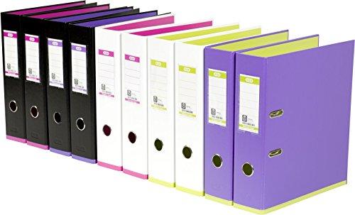 Elba 100023556 myColour - Archivador (A4, PP, lomo de 8 cm, 10 unidades, colores surtidos)