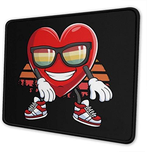 Zahnseide Tanz Mauspad Rechteck rutschfeste Gummi Mauspad Mousepad Matte 7.9 X 9.5 in