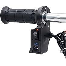 """TurnRaise Chauffe-main Poignées Chauffants Electrique Polyvalent Moto Scooter 22mm 7/8"""" Guidon pour Moto/Vélo/VTT (Noir)"""