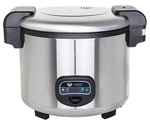 Beeketal \'BRK-5\' Profi Gastro Reiskocher 13 Liter für bis zu 4 kg Reis (ca. 35-50 Portionen), Koch- und Warmhaltefunktion, antihaft Innentopf, Kondenswasserschale, inkl. Messbecher und Rührlöffel