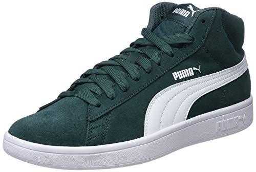 Puma Unisex-Erwachsene Smash V2 Mid Sd Hohe Sneaker, Grün (Ponderosa Pine White), 45 EU Mid Top Schuhe