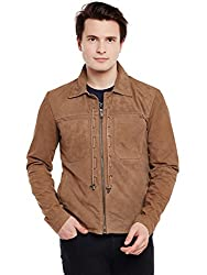 Bareskin Mens Suede Tan Leather Jacket