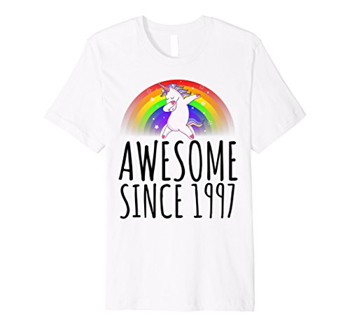 Awesome Since 1997 21st Birthday Cute Unicorn T Shirt Gift