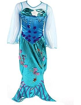 (Viele Größen) Katara 1777 - Meerjungfrauen Kostüm, Glitzer-Verkleidung zum Karneval mit bodenlangem Rock, Faschings-Anzug...