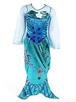 Questo costume tramuta la tua fantasia in realtà: in pochi minuti una giovane principessa di città si trasforma improvvisamente in una vera sirena. Il vestito luccicante è ricamato con molte applicazioni di brillanti, tra cui fiori e perle. Q...
