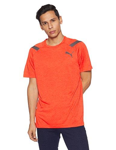 Puma Herren Bonded Tech SS Tee T-Shirt, Cherry Tomato Heather, XL (Cherry 04)