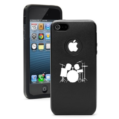 apple-iphone-5-5s-black-5d3979-aluminum-silicone-case-cover-drum-set