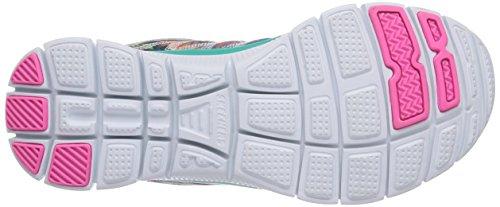 Skechers Flex Appeal Floral Bloom, Chaussures de sports en salle femme Vert (Aqua)