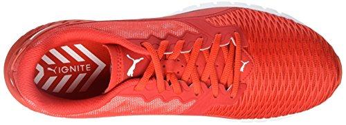 Puma Ignite Dual, Running Mixte Adulte High Risk Red-Puma White