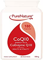 Co-Enzyme Q10 High Grade Rapid Absorption 100mg / 180 Easy One-a-Day Vegetarian Capsules| 100% SATISFACTION GAURANTEE | Energy Rich to Support the Maintenance & Wellbeing of the Heart, Liver & Body Cells FREE UK DELIVERY